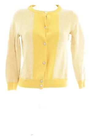 J.crew Gilet tricoté jaune foncé Motif de tissage style décontracté