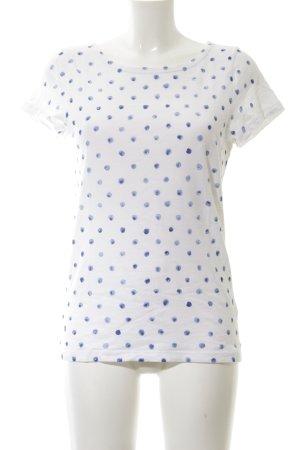 J.crew T-Shirt weiß-blau Punktemuster Casual-Look