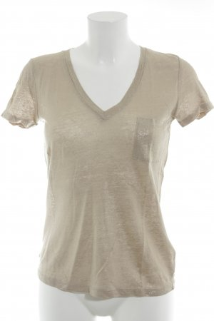 J.crew T-Shirt beige-goldfarben Glitzer-Optik