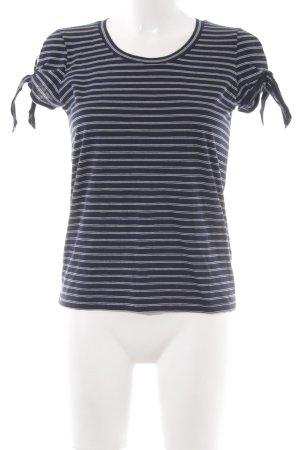 J.crew T-Shirt dunkelblau-weiß Streifenmuster Casual-Look