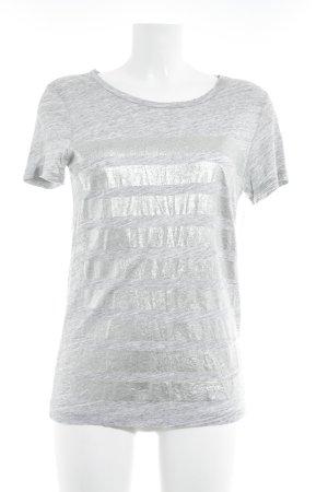 J.crew T-Shirt hellgrau-silberfarben meliert Casual-Look