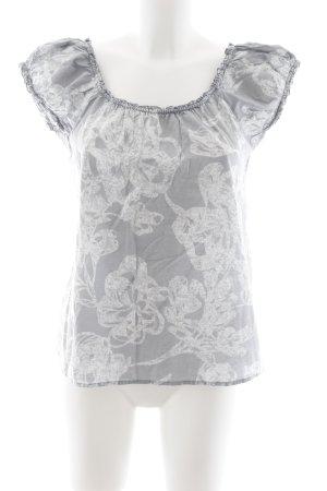 J.crew T-Shirt hellgrau-weiß abstraktes Muster Romantik-Look
