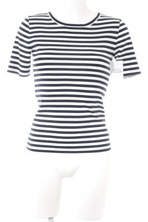 J.crew T-Shirt weiß-dunkelblau Streifenmuster Marine-Look