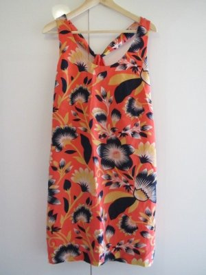 J.Crew Twist-back silk dress in hibiscus floral