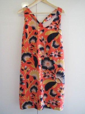 J.Crew Twist-back silk dress in hibiscus floral