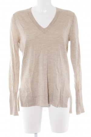 J.crew V-Neck Sweater cream casual look