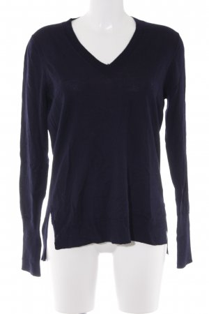 J.crew V-Neck Sweater dark blue casual look