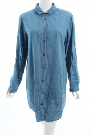 J for Justify Long Blouse cornflower blue jeans look