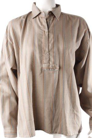 J.P.Jones Vintage-Bluse beigegrau-gestreift