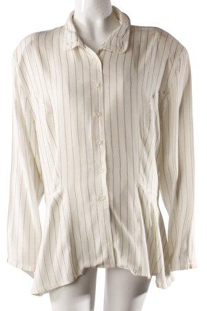 J.P.Jones Vintage-Bluse weiß-gestreift