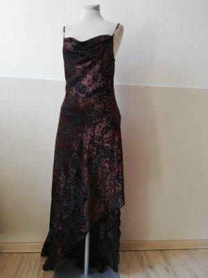 J. Ribkoff Kleid Abendkleid Vintage Maxikleid Samt Samtkleid Wasserfallkleid