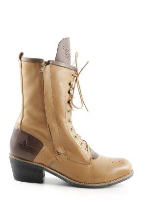 J shoes Schnürstiefel nude-bronzefarben Casual-Look