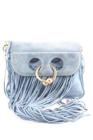 J.w.anderson Borsa con frange blu acciaio stile casual
