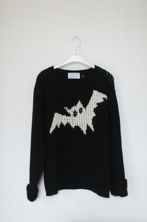 Topshop Coarse Knitted Sweater black-white
