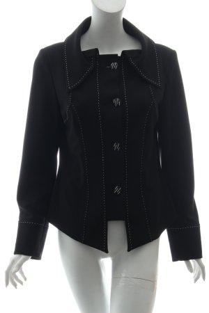 jaap rijnbende Blusenjacke schwarz-weiß Steppmuster Business-Look