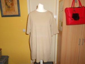 Jack & Jones- beiges geripptes T-Shirt Gr. XL