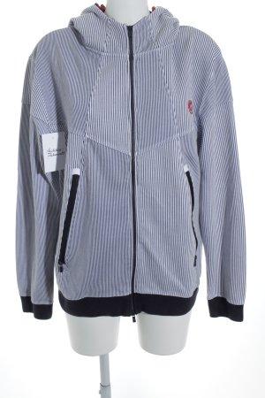 Jack & Jones Jersey con capucha azul oscuro-blanco estampado a rayas look casual