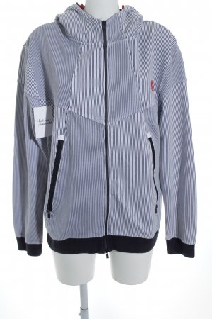 Jack & Jones Kapuzenpullover dunkelblau-weiß Streifenmuster Casual-Look