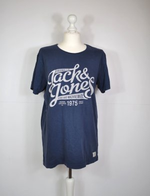 Jack & Jones Shirt in Dunkelblau im Vintage Stil