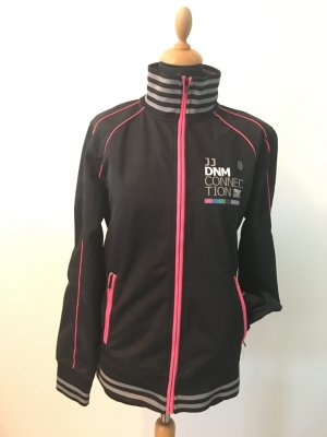 Jack&Jones Sweat Sweatjacke m Medium Trainingsjacke Pulli schwarz pink grau