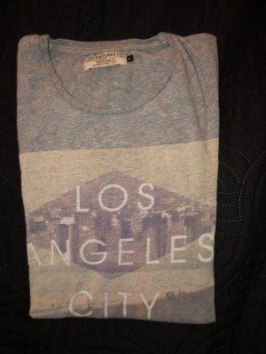 Jack & Jones Shirt met print grijs-lichtgrijs