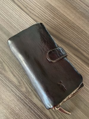 Wallet dark brown leather