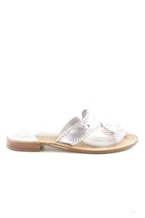 Jack Rogers Sandalo toe-post argento stile casual