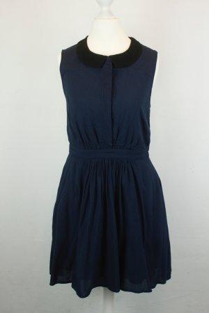 Jack Willis Kleid Blusenkleid Gr. UK 8 / dt 36 dunkelblau schwarz Kragen