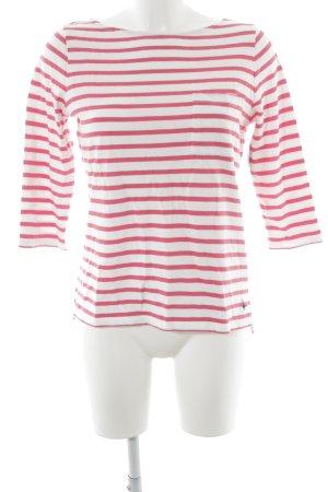 Jack Wills Carmen shirt wit-magenta gestreept patroon casual uitstraling