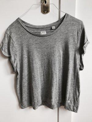 Jack Wills Camisa recortada gris claro-gris