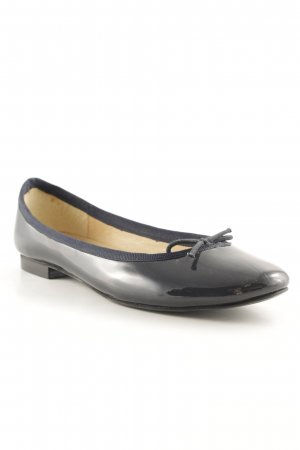 Jack Wills Patent Leather Ballerinas dark blue casual look