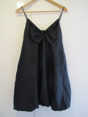 Balloon Dress black silk