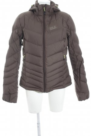 Jack Wolfskin Donsjack donkerbruin casual uitstraling