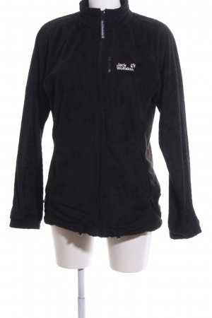 new concept c49ca 01d28 Jack Wolfskin Giacca in pile nero stile casual