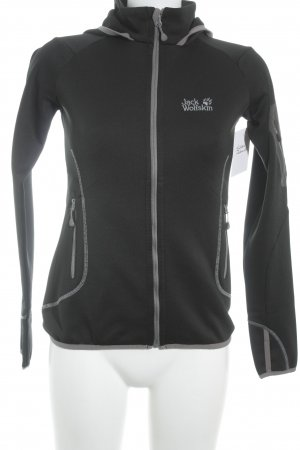 Jack Wolfskin Fleece Jackets black-light grey simple style