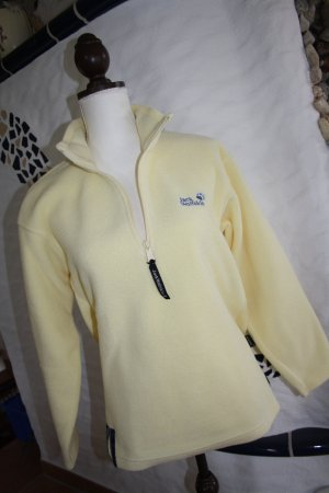 Jack Wolfskin Fleece Jumper pale yellow polyester