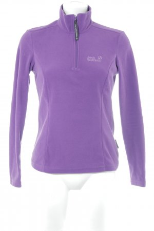Jack Wolfskin Pullover in pile viola scuro stile casual