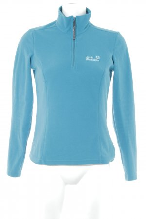 Jack Wolfskin Pullover in pile blu cadetto stile casual