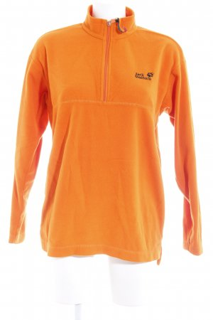 Jack Wolfskin Fleecepullover neonorange Safari-Look