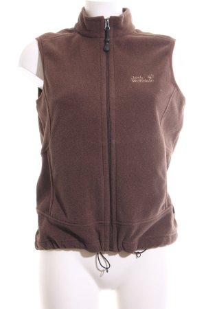 Jack Wolfskin Fleece Vest brown casual look