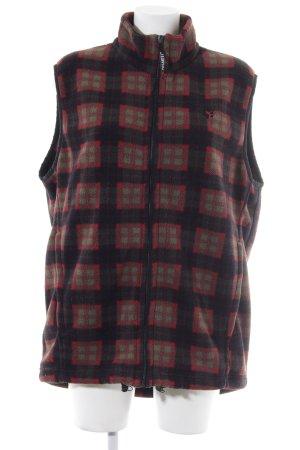 Jack Wolfskin Fleece vest geruite print casual uitstraling