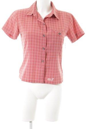 Jack Wolfskin Hemd-Bluse magenta-weiß Karomuster sportlicher Stil