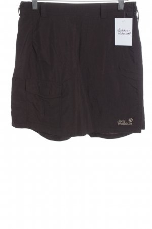 Jack Wolfskin Culotte Skirt dark brown athletic style