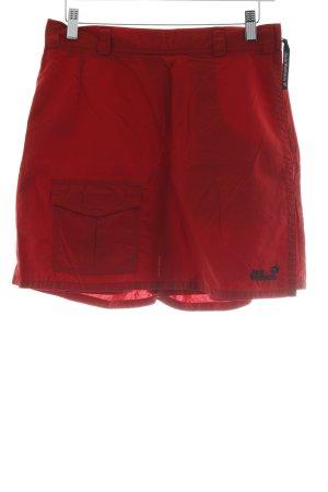 Jack Wolfskin Falda pantalón rojo estilo deportivo