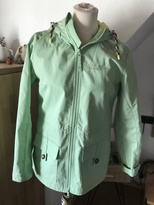 Jack wolfskin Jacke grün Outdoor mint mintgrün Mantel Parka