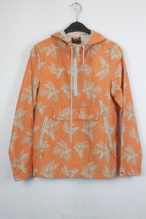 Jack Wolfskin Jacke Windbreaker Gr. XS orange mit beigem Floral Muster (18/5/294/E)