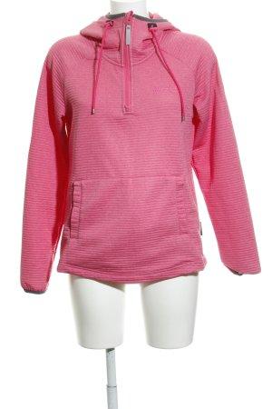 Jack Wolfskin Pull à capuche rose style athlétique
