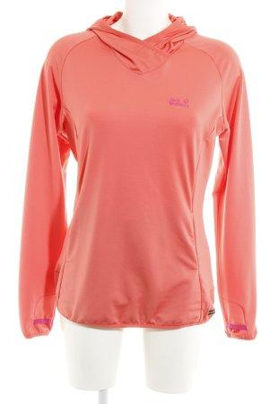 Jack Wolfskin Kapuzensweatshirt pink sportlicher Stil