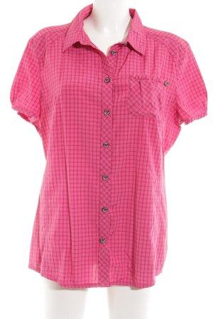 Jack Wolfskin Kurzarmhemd pink Karomuster Casual-Look