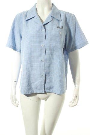 Jack Wolfskin Kurzarmhemd himmelblau-dunkelblau Karomuster sportlicher Stil